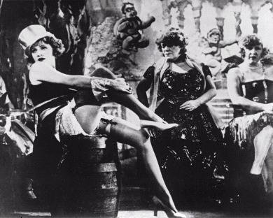 The Blue Angel, a film starring the legendary chanteuse and movie star, Marlene Dietrich, based on nightlife at the Wintergarten, Berlin's famous cabaret in the 1920s
