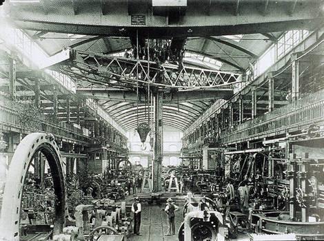 Inside the AEG Turbinfabrik