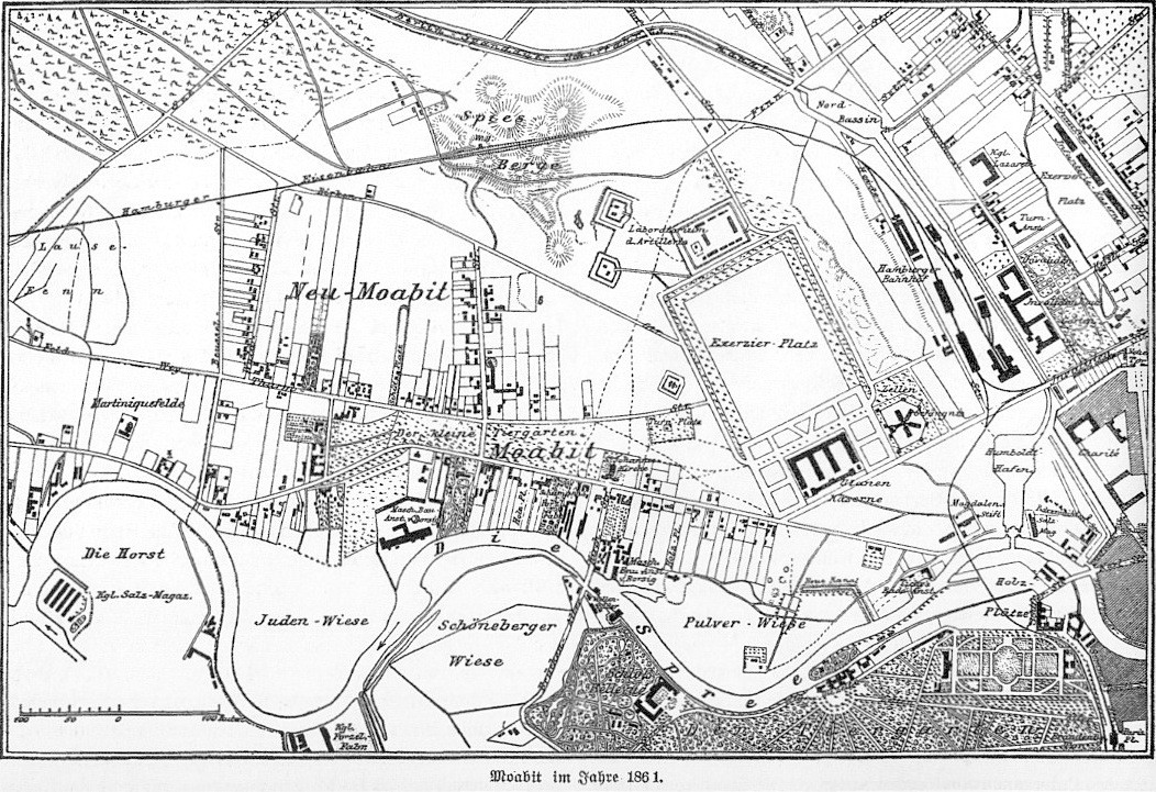 The map of Moabit in 1861