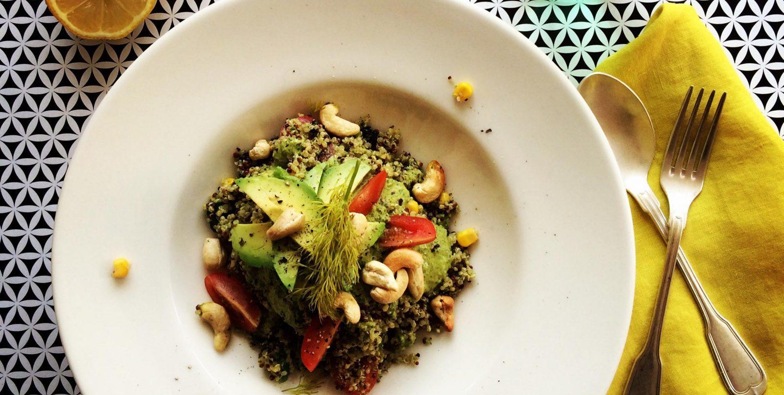 easy backpacker recipe - gluten free quinoa salad recipe