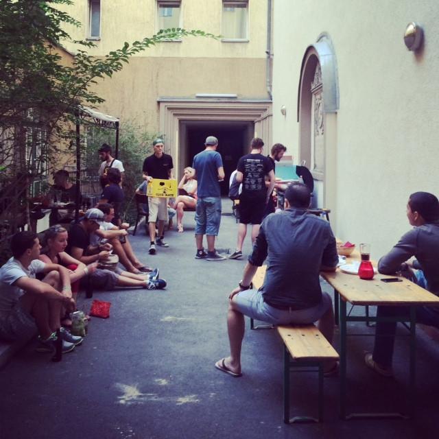 BBQ, summer, Berlin, hostel