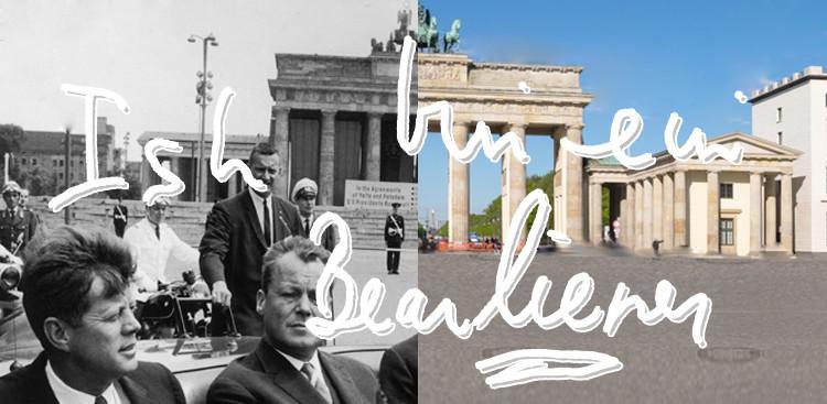Kennedy speech card Ich bin ein Berliner