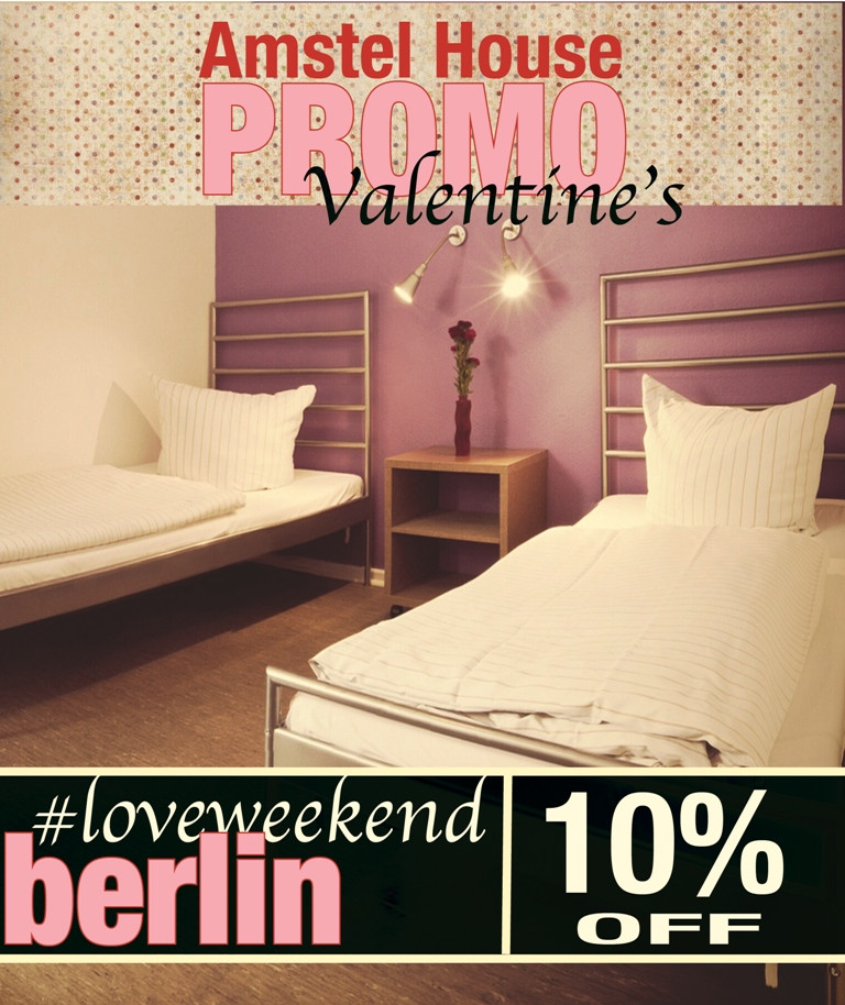 Valentine's day in Berlin, get a room for two at the Amstel House