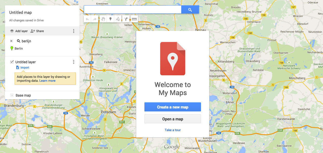 how to create a personal map with My maps