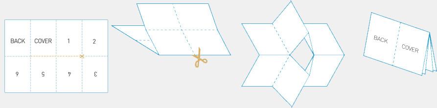 folding booklet 1 sheet tutorial