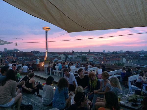sunset at Klunkerkranich