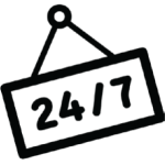 24 7 reception icon