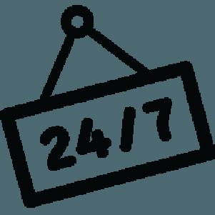 24 7 reception icon