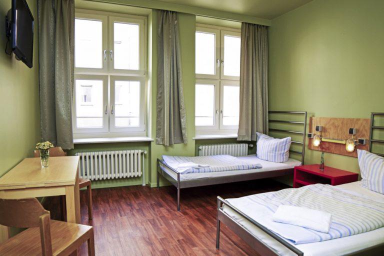 chambre à deux lits auberge de jeunesse berlin